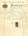 Invoice from Franck to Madame Goelet