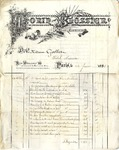 Invoice from Morin-Blossier to Madame Goelet