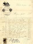 Invoice from Monsieur Virot to Madame Goelet