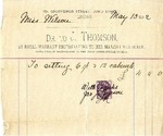 Invoice from J. Thomson to Miss Wilson