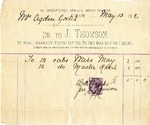 Invoice from J. Thomson to Mrs. Ogden Goelet