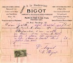 Invoice from Bigot to Madame Goelet