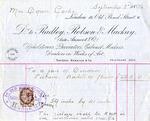 Invoice from Radley, Robson & Mackay to Mrs. Ogden Goelet