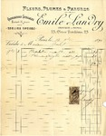 Invoice from Emile Landry to Madame Goelet