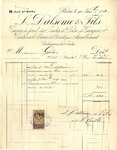 Invoice from Dalseme & Fils to Madame Goelet