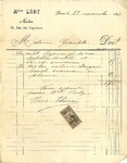 Invoice from Madamoiselle Lody to Madame Goelet