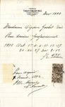 Invoice from Charles Kingsley to Madame Ogden Goelet