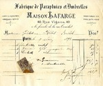 Invoice from Maison Lafarge to Madame Goelet