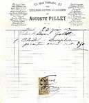 Invoice from Auguste Pillet to Madame Goelet