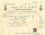 Invoice from H. J. Nicoll & Co. to Mrs. Ogden Goelet