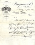 Letter from Braquene & Co. to Madame Goelet
