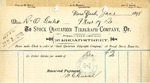 Receipt from Stock Quotations Telegraph Company to R and O Goelet