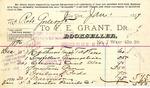 Receipt from F. E. Grant to Robert Goelet