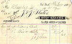 Receipt from J. & J. Slater to Robert Goelet