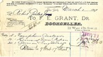 Receipt from F. E. Grant to Robert Goelet