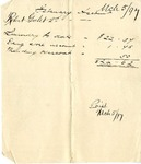 Receipt of February Account of Robert Goelet 2nd