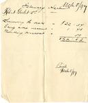 Receipt of February Account of Robert Goelet 2nd