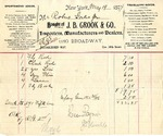 Receipt from J. B. Crook & Co. to Robert Goelet