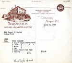 Invoice from Metropolitan Laundry to Robert Goelet