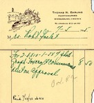 Invoice from Thomas N. Darling to Robert Goelet
