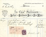 Receipt from Charles Moykopf to Robert Goelet