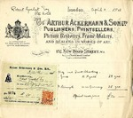 Receipt and Invoice from Arthur Ackermann & Son to Robert Goelet