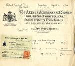 Receipt and Invoice from Arthur Ackermann & Son to Robert Goelet by Arthur Ackermann & Son