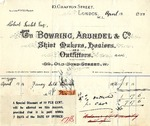 Receipt from Bowring, Arundel & Co. to Robert Goelet