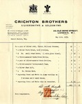 Receipt from Crichton Brothers to Robert Goelet