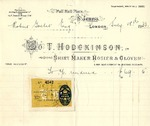 Receipt from T. Hodgkinson to Robert Goelet