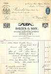 Receipt from Davies & Son to Robert Goelet