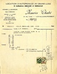 Receipt from Maurice Chabe to Monsieur Robert Goelet Travellers Club
