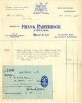 Receipt from Frank Partridge to Robert Goelet