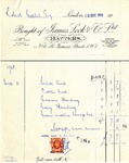 Receipt from Hames Lock & Co. to Robert Goelet