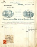 Receipt from Drew & Sons to Robert Goelet