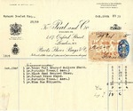 Receipt from Peal and Co. to Robert Goelet