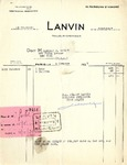 Receipt from Lanvin to Robert Goelet