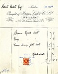 Receipt from James Lock & Co. to Robert Goelet