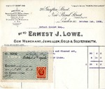 Receipt from Ernest J. Lowe to Robert Goelet by Ernest J. Lowe and W. D.