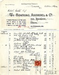 Receipt from Bowring, Arundel & Co. to Robert Goelet by Bowring, Arundel & Co.