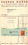 Receipt from Jaeger House to Robert Goelet