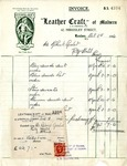 Receipt from Leather Craft of Malvern to Robert Goelet