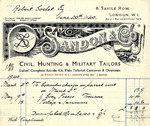 Invoice from Sandon & Co. to Robert Goelet