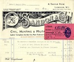 Receipt from Sandon & Co. to Robert Goelet