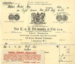 Invoice from E. & H. Hummel & Co. to Robert Goelet by E. & H. Hummel & Co.