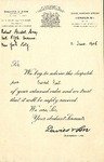 Letter from Davies & Son to Robert Goelet by Davies & Son