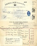 Receipts from Davies & Son to Robert Goelet by Davies & Son and B. Gibson
