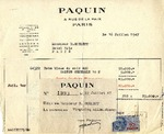 Receipt from Paquin to Robert Goelet by Paquin