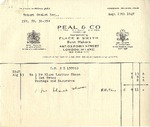 Invoice from Peal and Co. to Robert Goelet