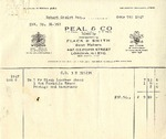 Invoice from Peal and Co. to Robert Goelet by Peal and Co.